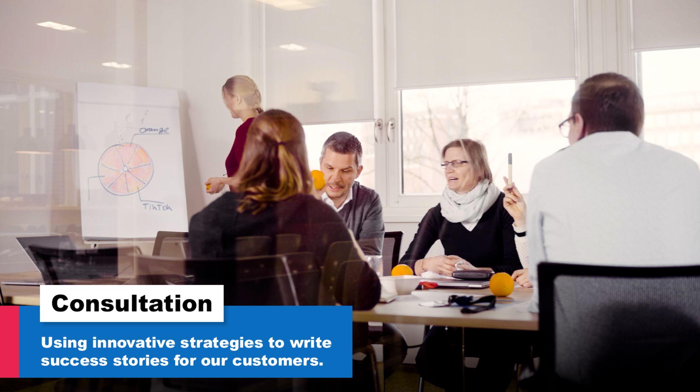 Consultation. Using innovative strategies to write success stories.